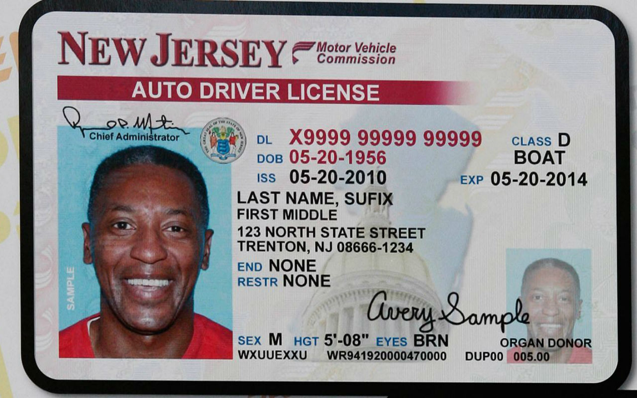 Tramita tu licencia de conducir en Nueva Jersey. | Foto: Motor Vehicle Commission of New Jersey.